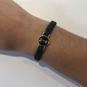 """I"" Initial Leather Braided Bracelet (Adjustable)"